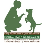 Winner of APDT's 2011 National Train Your Dog Month
